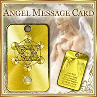 Angel Message Card / 金のお守り